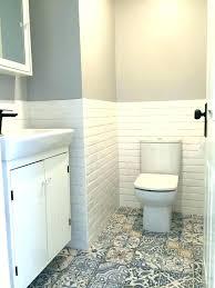T Powder Room Tile Atmosphere Bathroom Paint  Tiles Vanity Mirror From