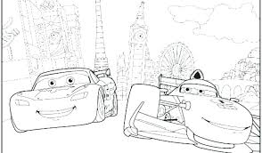 disney junior coloring free printable pages cars 2
