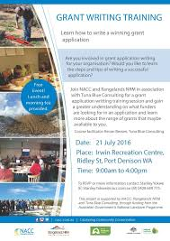 Grant Writing Training Flyer Nacc Northern Agricultural