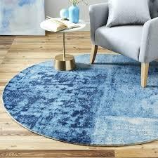 blue circular rug round blue rug canada