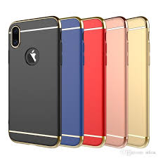 for iphone x iphone 8 case 3 in 1 luxury hybrid electroplating hard pc cell phone cases for iphone 7 samsung galaxy s8 plus note 8