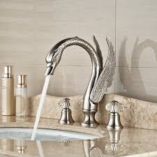 brushed nickel widespread bathroom faucet. Wholesale And Retail Promotion Crystal Handles Widespread Brushed Nickel Bathroom Faucet Vanity Sink Mixer Tap A