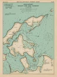 New York Harbor Nautical Chart Greenport Orient And Sag Harbor Long Island Ny Colored Nautical Chart