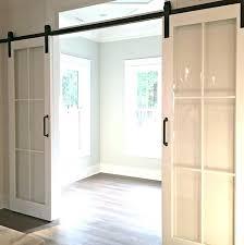 sliding door with glass panels barn door with glass panels interior barn door with glass interior