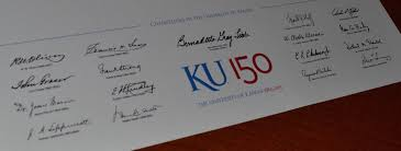 ku diploma office of the university registrar signature closeup