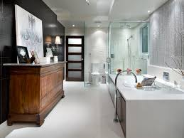 Black And White Bathroom Designs HGTV Adorable Bathroom Designed