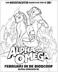 1001 Kleurplaten Films Alpha En Omega 3d Alpha En Omega