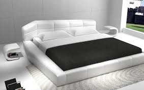 Modern bed Metal Whisper Ultra Modern White Platform Bed Sobe Furniture Whisper Ultra Modern Platform Bed Contemporary Beds