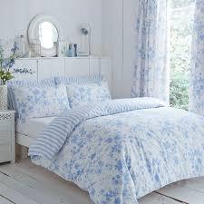 blue white fl etoile reversible duvet cover set curtains