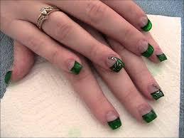 Luck of the Irish Emerald green nails. - YouTube