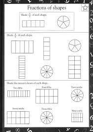 Free printable maths worksheets | Maths Worksheets For kidsFraction of shapes
