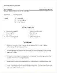 How To Write A Resume For High School Students Magnificent High S Resumes Examples Resume For Highschool Students