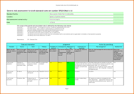 Excel Assessment 24 Risk Assessment Template Excel Itinerary Template Sample 22