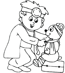 Coloring Pages Male Nurse Coloring Page Stethoscope Pages