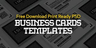 Free Download Cards Free Business Cards Psd Templates Print Ready Design Freebies