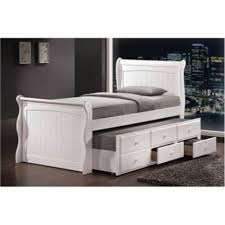 Exceptional White Captain Bed