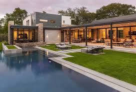 Hover Home Design Beautiful Stone Dwelling Appears To Hover Over Its Texas