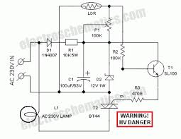 automatic lawn lights circuit schematic