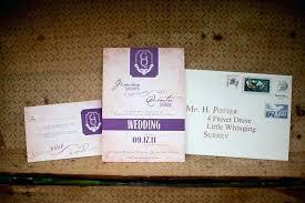 harry potter wedding invitations invitation card suite