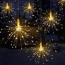 Easy Way Hang Christmas Lights Outdoor Us 3 94 21 Off Festival Hanging Starburst String Lights 120 240 Leds Diy Firework Copper Fairy Garland Christmas Lights Outdoor Twinkle Light In