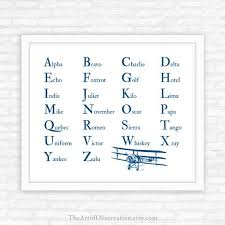 When a pilot speaks with air traffic control or. Phonetic Alphabet Print Aviation Airplane Nursery Decor Boys Etsy
