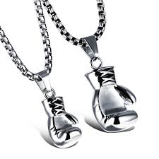 whole 316l stainless steel silver boxing gloves necklace boxing gloves charm flighting glove jewelry gold charms heart necklaces from visonjewelry