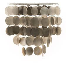 capiz shell tiered ceiling shade grey