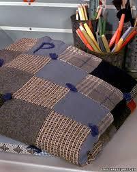 Wool-Tweed Patchwork Throw | Martha Stewart &  Adamdwight.com