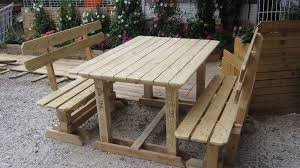 pallet balcony furniture creative outdoor benches wood skid furniture
