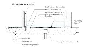 how to plumb a shower drain install in concrete floor detail pipe slab