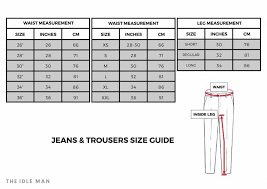 Mens Pants Size Chart Conversion Pants Size Chart For Men And Women Free Download