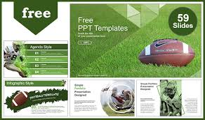 america ppt template american football over grass powerpoint templates