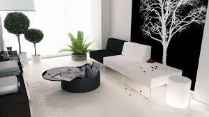 black black white bedroom interior