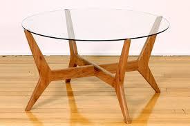 spider black retro round coffee table glass top bespoke rattan