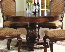 Cherry Pedestal Dining Table Set