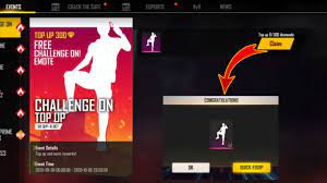 New Event Free Fire || New Top up Free Fire || Challenge On Emote Top Up  Free Fire |