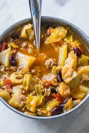 Cabbage soup is only 134 calories per serving. One Pot Hamburger Cabbage Soup