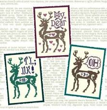 Deer Me Ink Circles Cross Stitch Chart