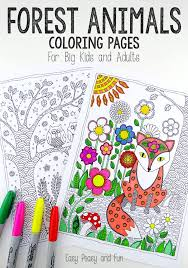 Coloring Pages Forest Animals Forest Animals Coloring Pages Easy Peasy And Fun
