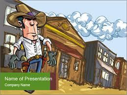 Cartoon Powerpoint Presentation Western Gunman Cartoon Powerpoint Template Backgrounds Google