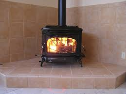 Tiled Hearth Designs For Wood Stoves Freestanding Wood Burning Stove Wall Protection And Hearth