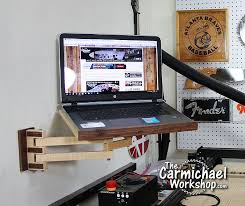 diy laptop wall mount i love this
