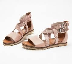Miz Mooz Leather Cross-Strap Sandals - Tucker Pearl EU 40   eBay