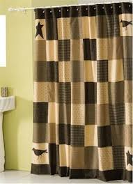 Primitive shower curtain, rustic shower curtain, patchwork shower ... & Dress up your bathroom with our patchwork Kettle Grove primitive shower  curtain! Coordinate with our braided rugs and quilted bedding sets from  Primitive ... Adamdwight.com