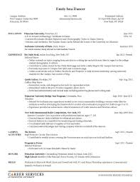 Art History Internship Resume Intern Resumes Chronological