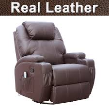 electric leather recliner chair. cinemo-real-leather-recliner-chair-rocking-massage-swivel- electric leather recliner chair l
