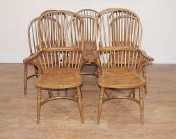 8 Oak Windsor Kitchen Dining Chairs Farmhouse Chair Ebay