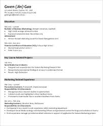 Marketing Job Resume Examples Sample Marketing Skills Resume 8 Examples In Word Pdf