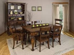 bellville dining room set amish made table chairs and hutch