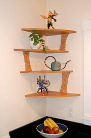 Corner Wall Shelf Wood image and description